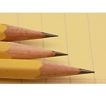 Three Pencils on Legal Pad Photographic Print