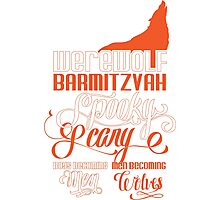 Werewolf Barmitzvah Orange Photographic Print