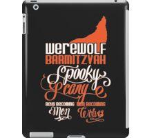 Werewolf Barmitzvah Orange iPad Case/Skin