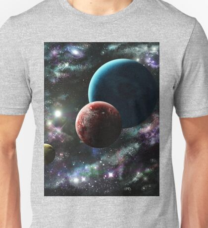 planet Ataris and her moons Unisex T-Shirt
