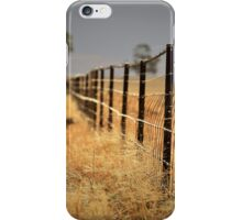 Weeds , Storm and a Fence  iPhone Case/Skin