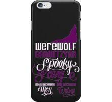 Werewolf Barmitzvah Purple White iPhone Case/Skin