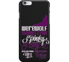 Werewolf Barmitzvah Purple White iPhone Case/Skin