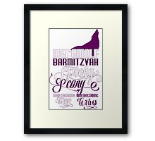 Werewolf Barmitzvah Purple White Framed Print