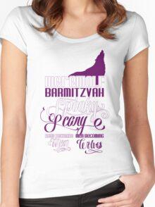 Werewolf Barmitzvah Purple White Women's Fitted Scoop T-Shirt