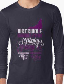 Werewolf Barmitzvah Purple White Long Sleeve T-Shirt