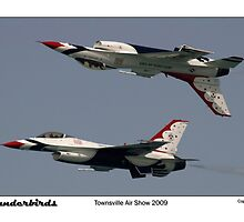 Townsville Air Show 2009 - USAF Thunderbirds - Mirror formation by Paul Gilbert