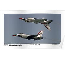 Townsville Air Show 2009 - USAF Thunderbirds - Mirror formation Poster