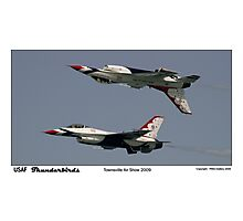 Townsville Air Show 2009 - USAF Thunderbirds - Mirror formation Photographic Print