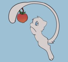 pokemon mew mewtwo apple cute chibi anime shirt by JordanReaps