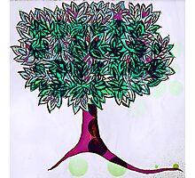 tree [purple bubble pop] Photographic Print