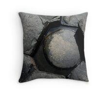 round peg Throw Pillow