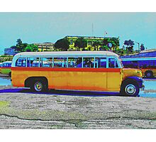 Maltese Bus Photographic Print