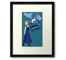 pokemon frozen disney articuno elsa anime shirt Framed Print