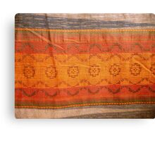closeup pattern texture of general traditional textile style native from fabric  Canvas Print