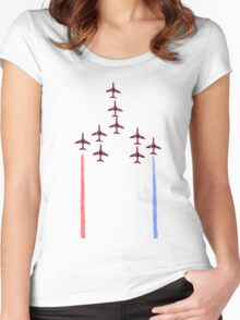 Red Arrows. Women's Fitted Scoop T-Shirt