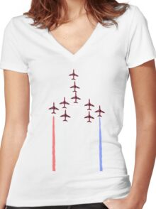 Red Arrows. Women's Fitted V-Neck T-Shirt
