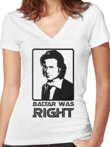 Baltar Was Right Women's Fitted V-Neck T-Shirt