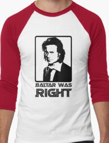 Baltar Was Right Men's Baseball ¾ T-Shirt