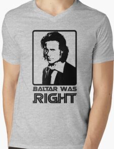 Baltar Was Right Mens V-Neck T-Shirt