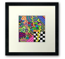 Trippy Neon Shape thingy Framed Print