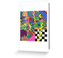 Trippy Neon Shape thingy Greeting Card