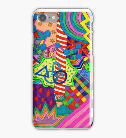 Trippy Neon Shape thingy iPhone Case/Skin