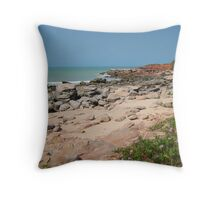 Beach north of Broome Throw Pillow