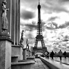 Eiffel Tower VI B&amp;W by Eyal Geiger
