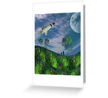 Next Stop, The Moon Greeting Card