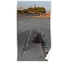 Tracks in the Sand Poster