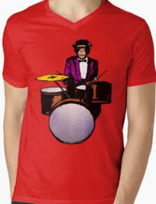 Swingin' Chimp Mens V-Neck T-Shirt