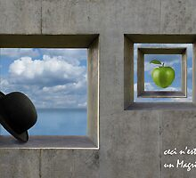 tribute to Magritte by Diana Calvario