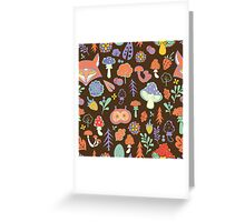 - Autumn forest pattern - Greeting Card