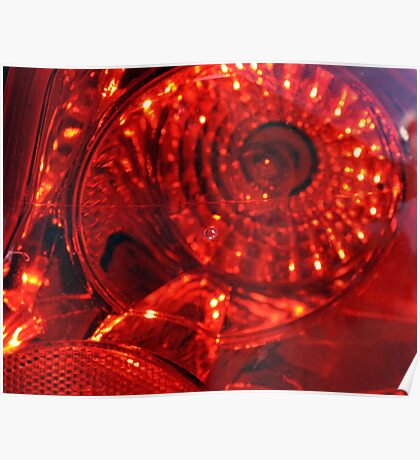 Red Eye Textured Tail Light Poster