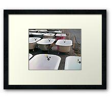 Mickey Mouse Bathtubs Framed Print