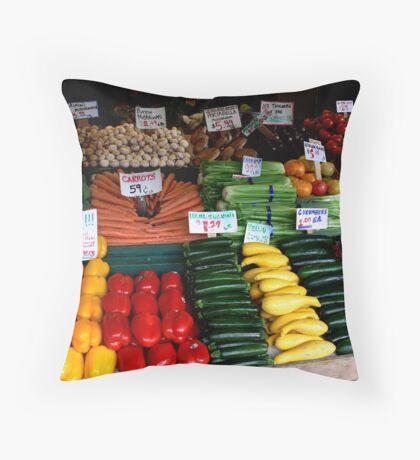 Stilnovich Corner Produce Throw Pillow