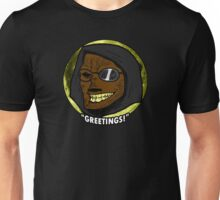 "Toon Dr. Wolfula Design- ""GREETINGS!"" Unisex T-Shirt"