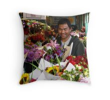 Flower Vendors of Pike Place Market_1 Throw Pillow