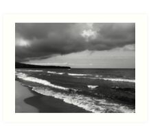 Lake Superior storm clouds Art Print