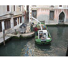 Rubbish Collection a Venezia! Photographic Print