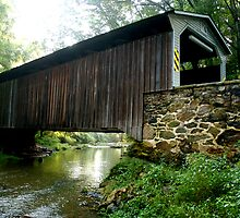 Glen Hope Covered Bridge just outside of MD line by Monte Morton