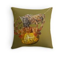 Spider With Prey Throw Pillow