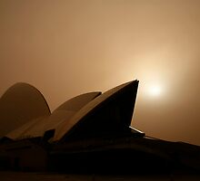 Red Filter on Opera House by Jenner Samudra