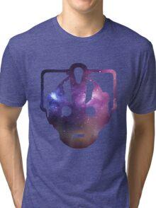 Cyber Galaxy - Doctor Who Cyberman Tri-blend T-Shirt