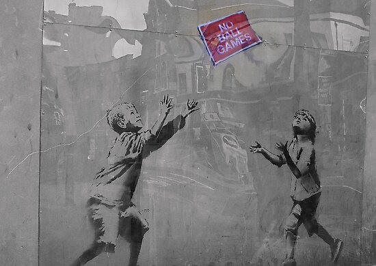 Banksy on the Street  by Kiwikiwi