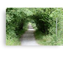 Tunnel of Leafy Green Canvas Print