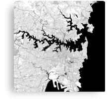 Map of Sydney Canvas Print