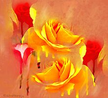 Painted Roses Abstract by WiredMarys