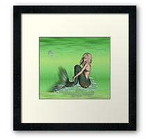 May Mermaid Framed Print